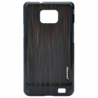 NILLKIN Vertical Stripes Style Protective PC Back Case for Samsung i9100 - Black