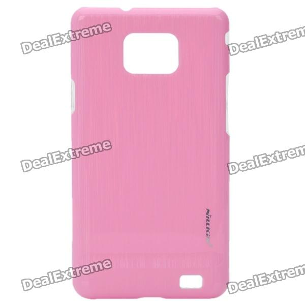 NILLKIN Vertical Stripes Style Protective PC Back Case for Samsung i9100 - Pink