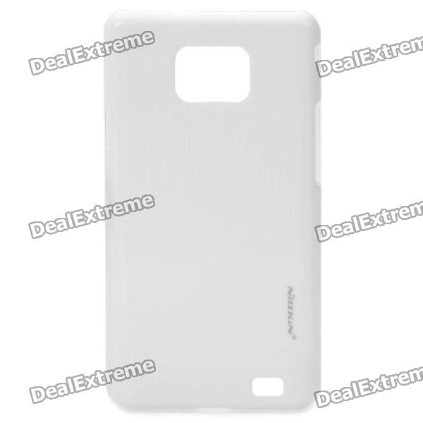 NILLKIN Vertical Stripes Style Protective PC Back Case for Samsung i9100 - White