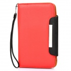 KALAIDENG Protective PU Leather Flip-Open Case for Samsung i9220 - Red + Black