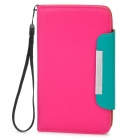 KALAIDENG Protective PU Leather Flip-Open Case for Samsung i9220 - Deep Pink + Green