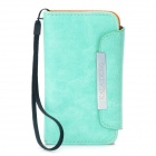 KALAIDENG Protective PU Leather Flip-Open Case for Iphone 4 / 4S - Light Green
