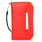 KALAIDENG Protective PU-Leder Flip-Open Case für iPhone 4 / 4S - Red