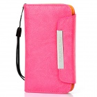 KALAIDENG Protective PU Leather Flip-Open Case for Iphone 4 / 4S - Deep Pink