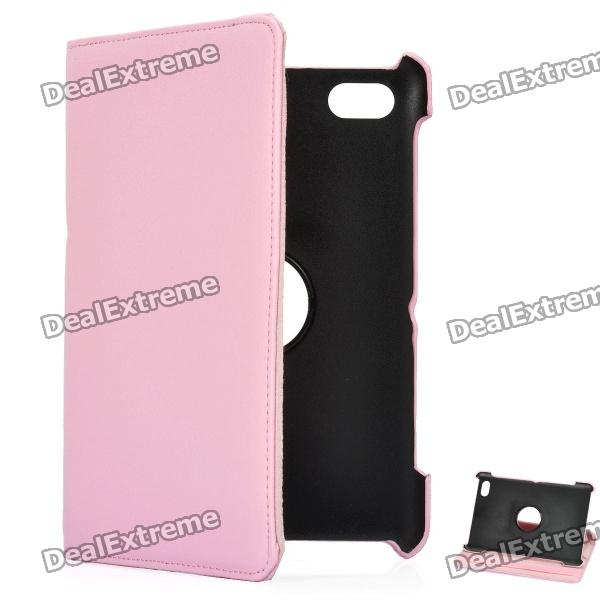 Protective 360 Degree Rotation Holder PU Leather Case for Samsung P6800 / P6810 - Pink levett caesar prostate massager for 360 degree rotation g spot