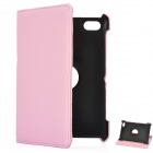 Protective 360 Degree Rotation Holder PU Leather Case for Samsung P6800 / P6810 - Pink