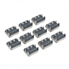 HDMI 19-pin Right Angle Female Connectors (10-Pack)