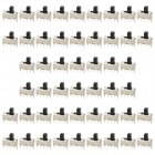 SS-12F46 5mm 0.5A Slide Switch for DIY Project - Black + Silver (50-Piece Pack)