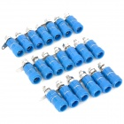DIY Binding Post Terminals - Blue + Silver (20-Piece Pack)