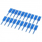 Plastic Multimeter Test Hook Clip Grabbers for PCB SMD IC - Blue (20-Piece)