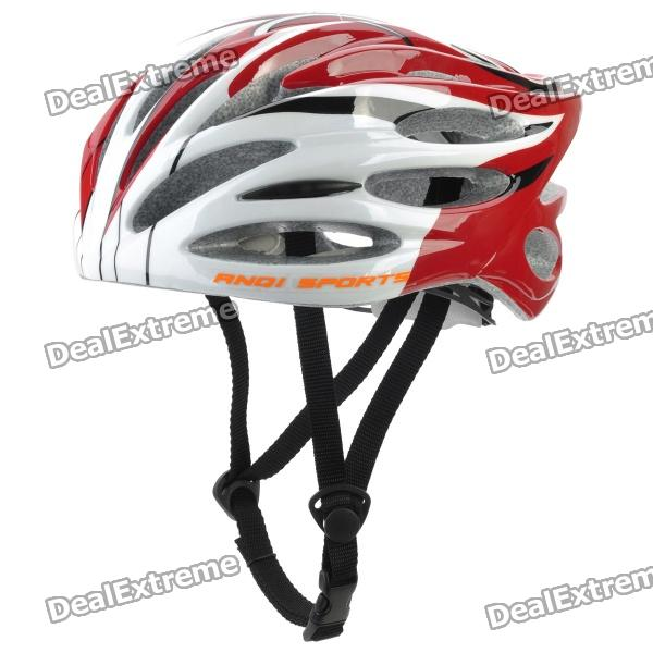 Outdoor Bike Bicycle Riding Helmet - Black + White + Red