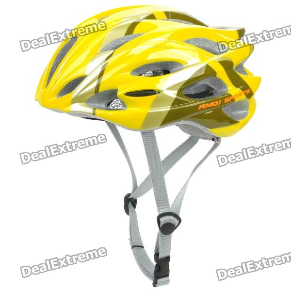 Outdoor Bike Bicycle Riding Helmet - Yellow + White