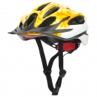Outdoor Bike Bicycle Riding Helmet - Yellow + White + Black