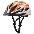 Capacete de Ciclismo legal Sports - Laranja + Black + White
