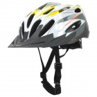 Cool Sports Cycling Helmet - Yellow + White + Gray