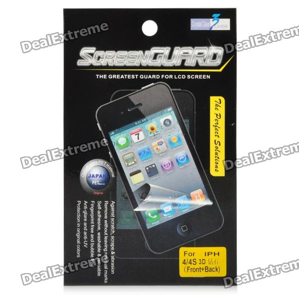 3D Diamond Effect Protective Matte Frosted Front + Back Skin Screen Protector Film for Iphone 4/4S 3d diamond effect protective matte frosted front back skin screen protector film for iphone 4 4s