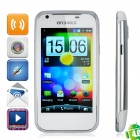 "G21 Android 4.0 WCDMA Bar Phone w/ 4.0"" Capacitive, GPS, Wi-Fi and Dual-SIM - White"
