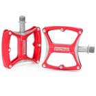 CYCLETRACK Replacement Magnesium Alloy Mountain Bike Pedals Set - Red (Pair)