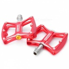 Sustitución CYCLETRACK de aleación de magnesio Mountain Bike Pedals Set - Rojo (Par)