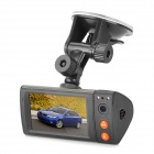 1.3MP Dual Lens Wide Angle Car DVR Camcorder w/ GPS Logger / TF Slot (3.0