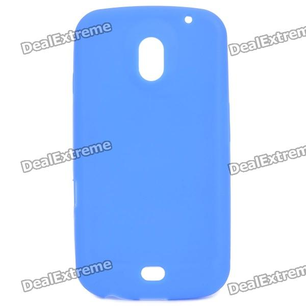 Protective Soft Silicone Back Case for Samsung i515 - Blue
