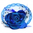 Decorative Flower Hairpin & Brooch Pin - Blue (16cm-Diameter)