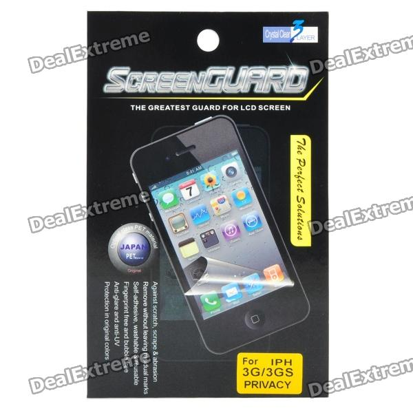 Anti-Privacy Screen Protector Guard Film for Iphone 3g/3GS - Grey