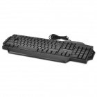 Genius K7 USB Wired Blue LED Backlit 104-Key Keyboard - Black (137cm-Cable)