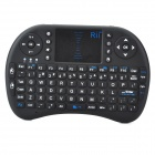 Genuíno Rii Mini RT-MWK08 Wireless 92-chave teclado QWERTY Mouse Touchpad com receptor USB - preto