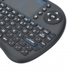 rii RT-MWK08 wireless 92-Key teclado QWERTY w / receptor USB - preto