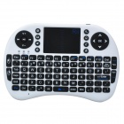 Genuine Rii Mini I8 Wireless 92-Key QWERTY Keyboard Mouse Touchpad with USB Receiver - White