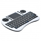 Genuine Rii Mini RT-MWK08 Wireless 92-Key QWERTY Keyboard Mouse Touchpad with USB Receiver - White