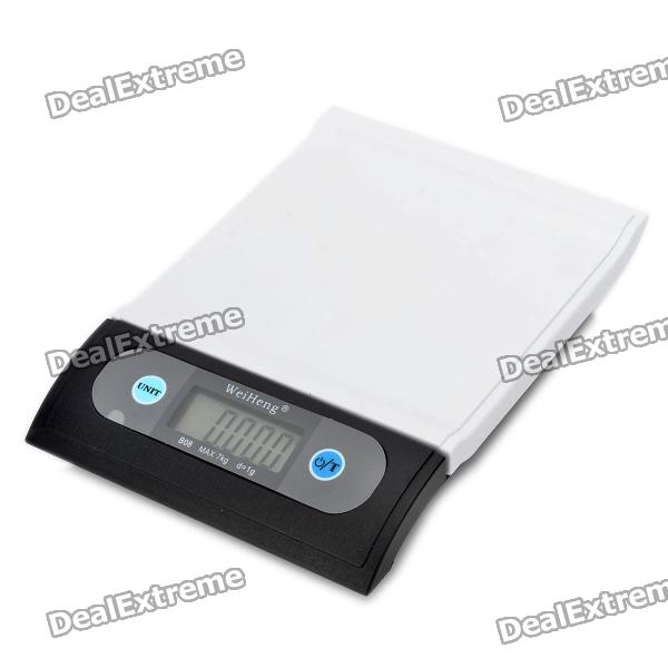 2.0 LCD Digital Kitchen Scale (7kg Max/1g Resolution) wh b10 2 6 lcd electronic kitchen scale w bowl white beige 2 x aaa