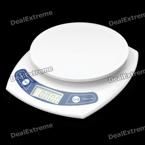 1.7 LCD Digital Kitchen Scale - White (2 x AAA) 1 5 lcd digital electronic scale 2 x aaa