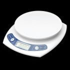 "1.7"" LCD Digital Kitchen Scale - White (2 x AAA)"