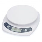 1.8&quot; LCD Digital Electronic Kitchen Scale - White (3Kg / 0.1g / 2 x AAA)