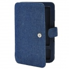 Protective Jean Cloth Case for Kindle3 - Deep Blue