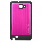Protective Wiredrawing Aluminum Alloy + Hard Plastic Cover Case for Samsung i9220 + More - Rosy