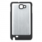 Protective Wiredrawing Aluminum Alloy + Hard Plastic Cover Case for Samsung i9220 + More - Silver