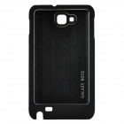 Wiredrawing Aluminum Alloy Protective Back Case for Samsung Galaxy NOTE / i9220 - Black