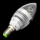 E14 3W 210LM 6000K Cold White Light LED Candle Style Bulb (85~245V)