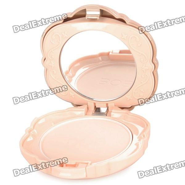 BOB Cosmetic Makeup Powder w/ Puff / Mirror - Light Beige (01#) bob cosmetic makeup powder w puff mirror dark beige 03