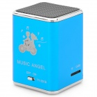 Portable Rechargeable Music Speaker Player with TF - Blue + Silver