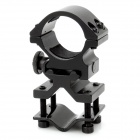 25mm Gun Mount Holder Clip Pinza para Flashlight - Negro