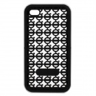 Stylish Protective Silicone Back Case for iPhone 4 - Black