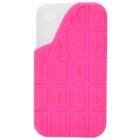 Sweet Chocolate Style Protective Silicone Back Case for iPhone 4 - Deep Pink