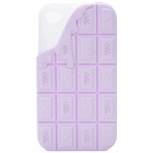 Sweet Chocolate Style Protective Silicone Back Case for iPhone 4 - Purple