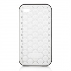 Protective Mesh Silicone Back Case for iPhone 4 - White