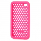 Protective Silicone + PC Case for iPhone 4 - Pink