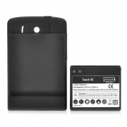 Replacement 3.7V 2600mAh Battery Pack + Back Cover Case for HTC Touch HD - Black